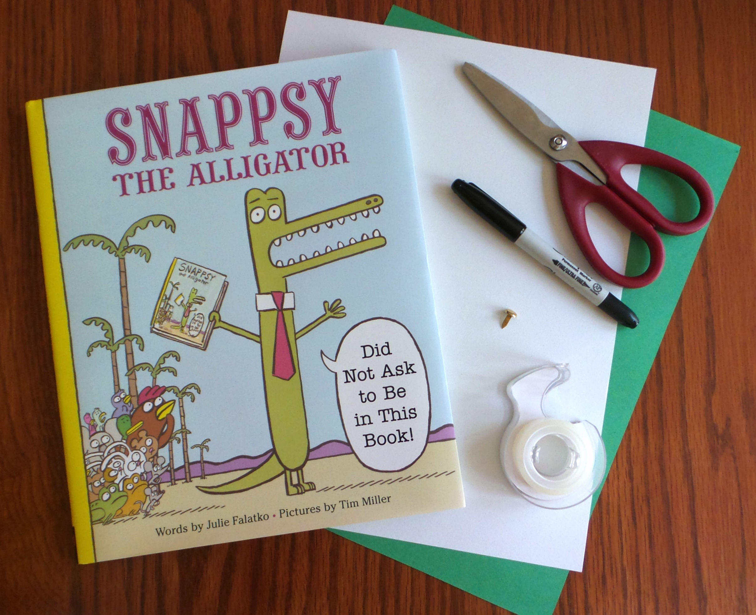 snappsy the alligator craft supplies