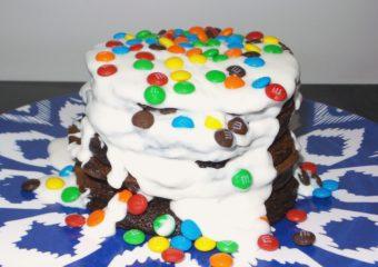 Frosted Chocolate Cake Mix Pancake Recipe