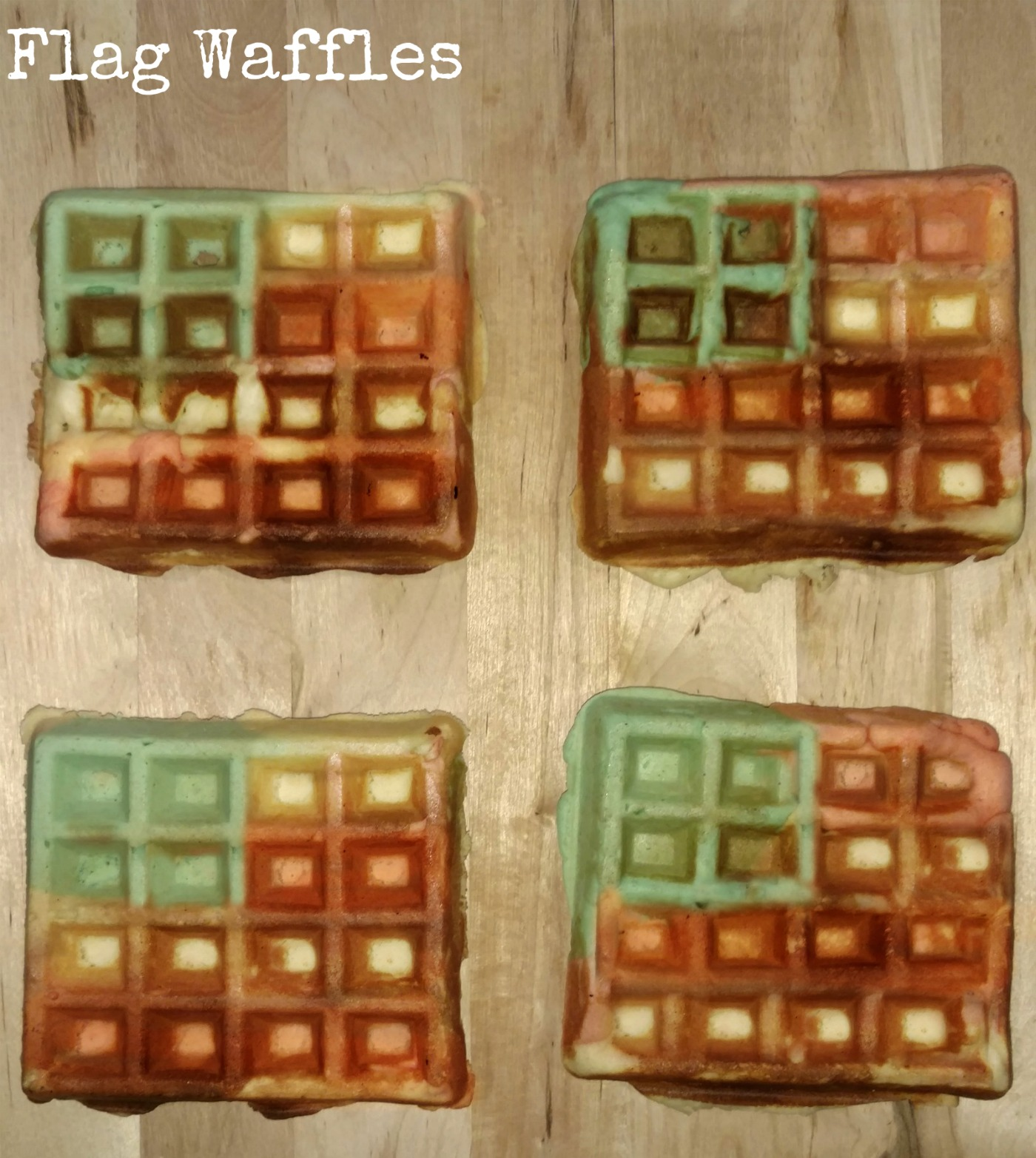 It is so easy to make these fun 4th of July flag waffles.