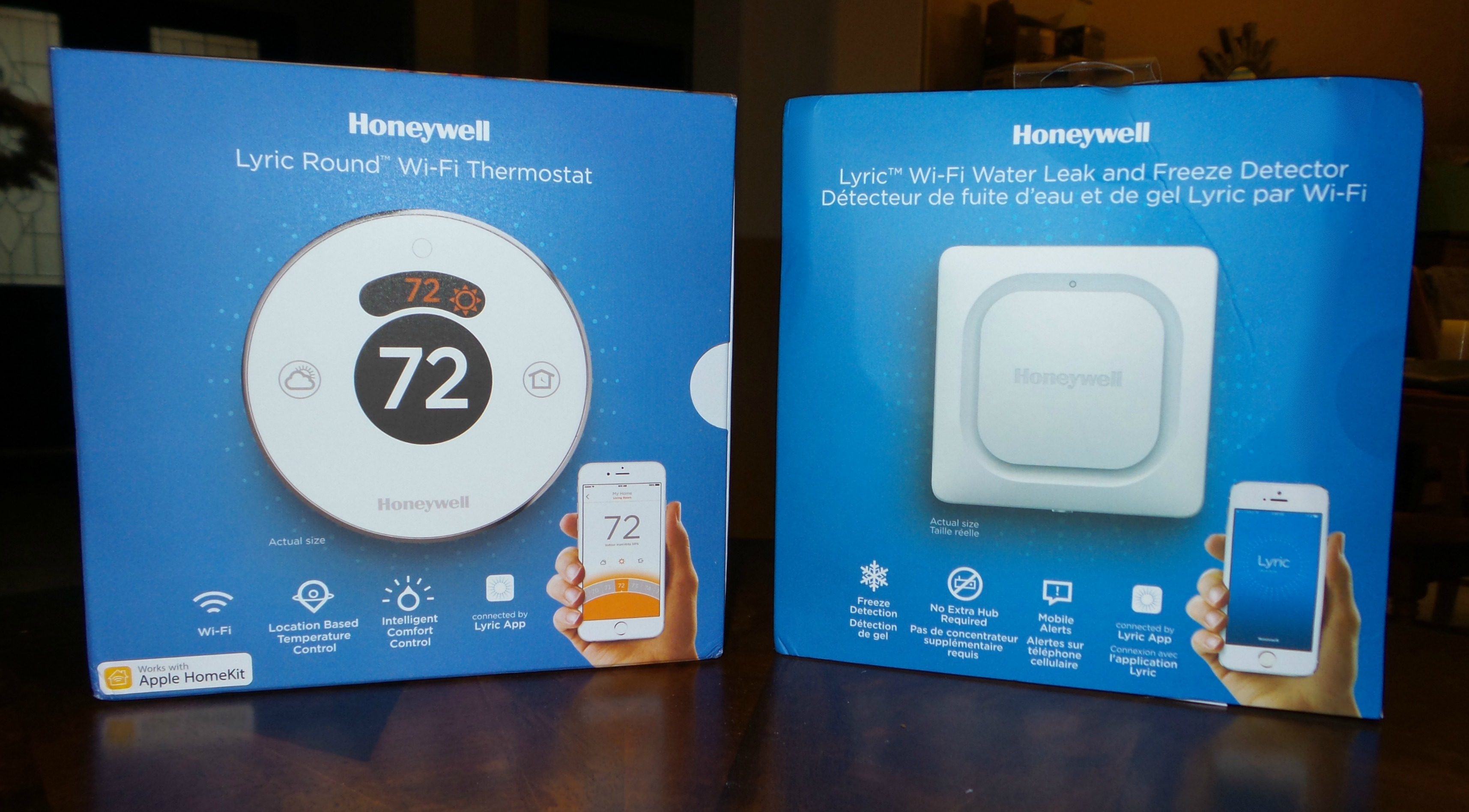 Honeywell Lyric thermostat and freeze detector