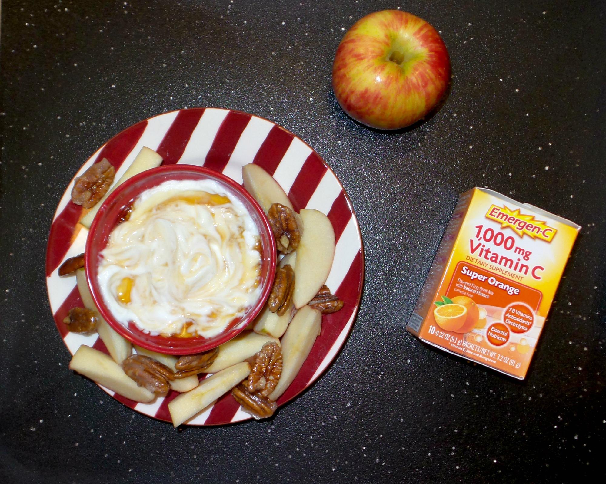 apples and yogurt dip