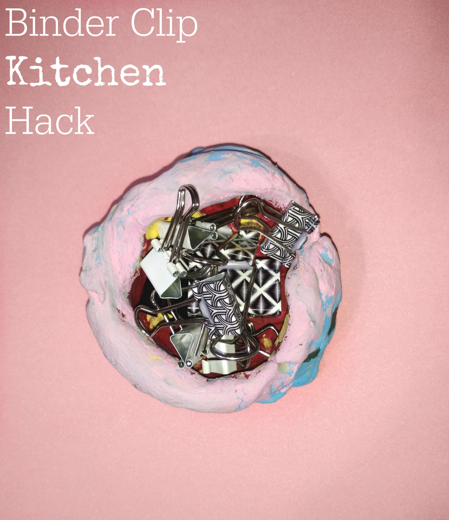 In this kitchen hack, you can use binder clips in an unexpected way!