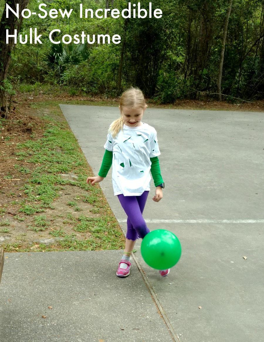 No-sew Incredible Hulk Halloween costume