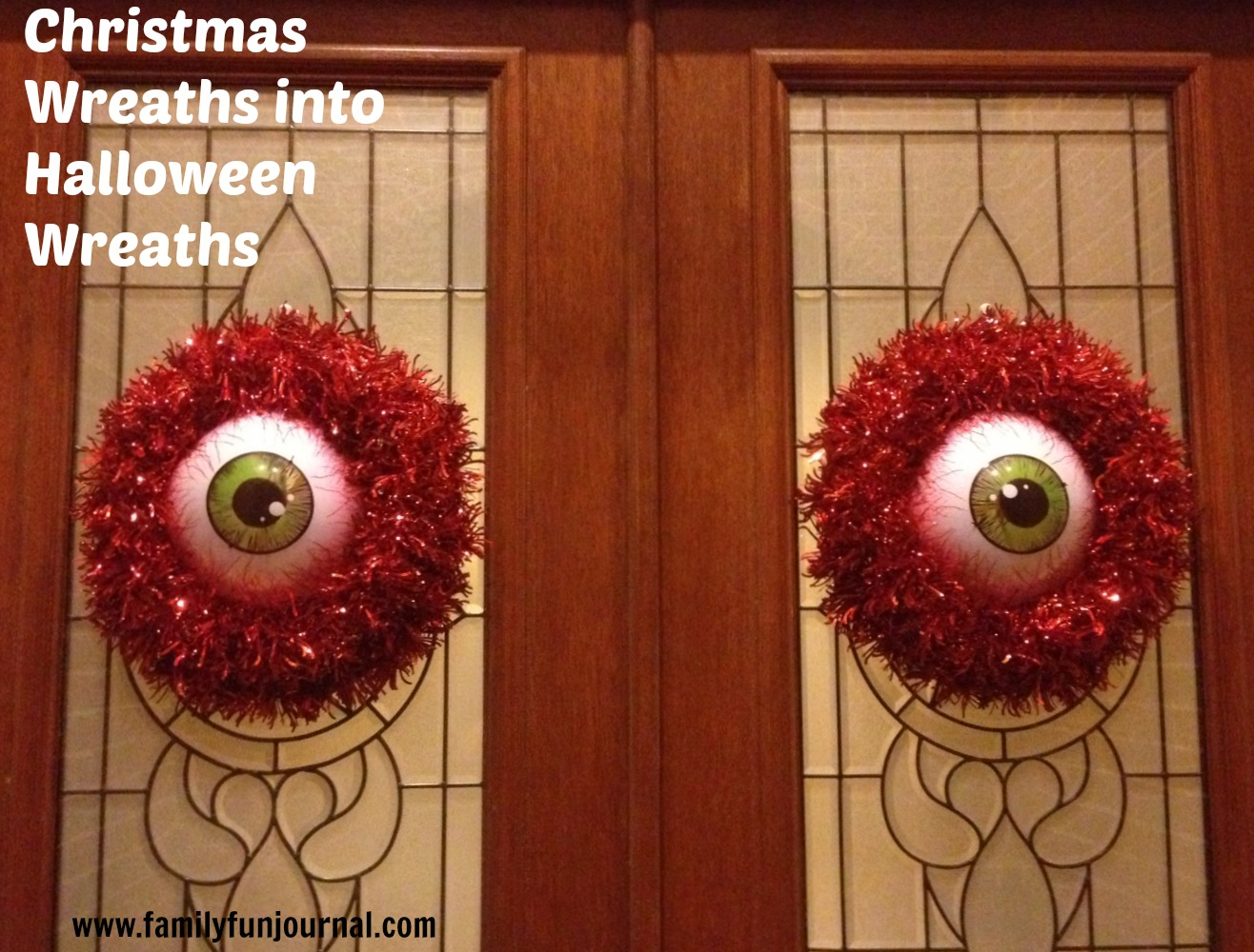scary halloween wreaths - Creepy Christmas Decorations