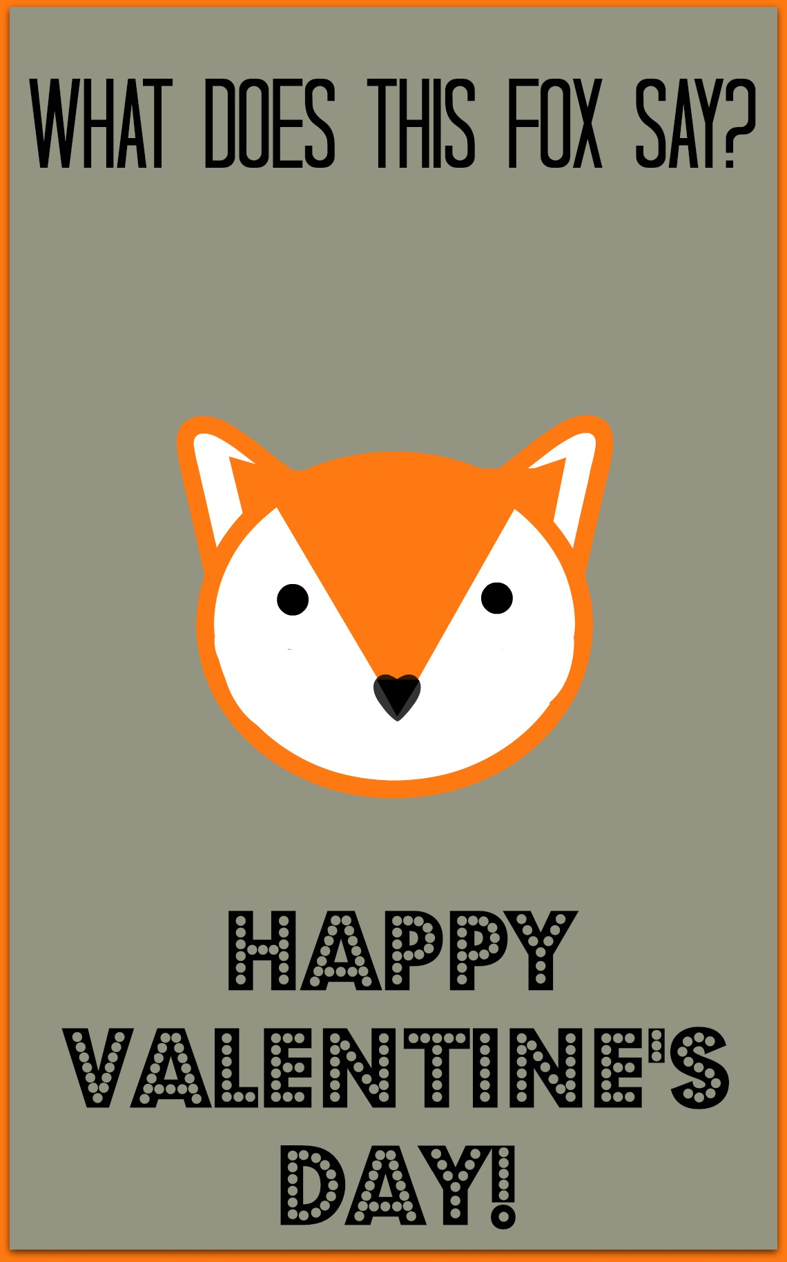 What Does The Fox Say Valentine Family Fun Journal