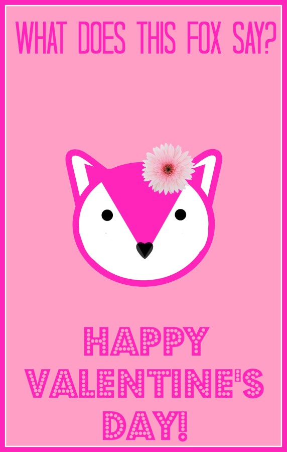 What does the fox say valentine family fun journal - Pink fox instagram ...