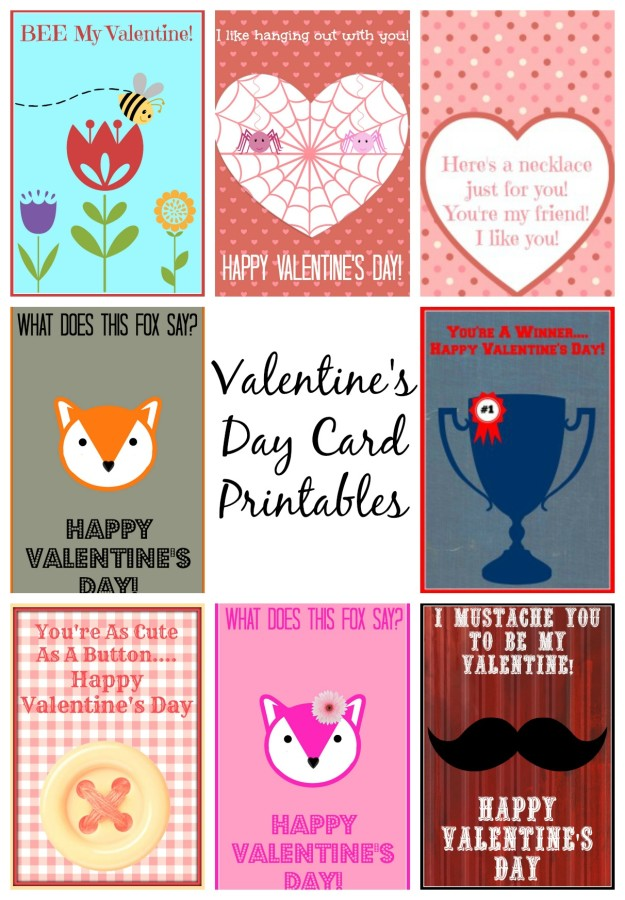 It is a graphic of Refreshing Printable Valentine Cards for Kids