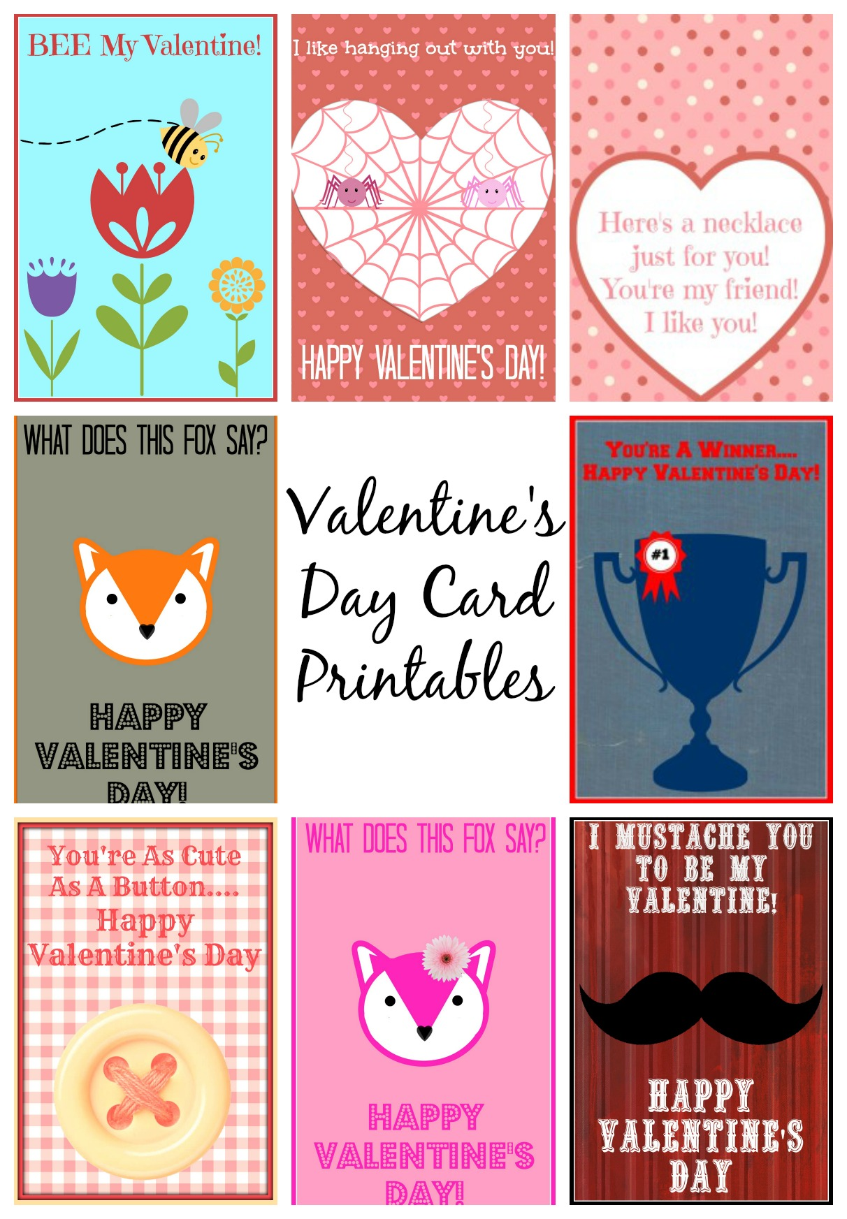 This is a picture of Playful Downloadable Valentines Card