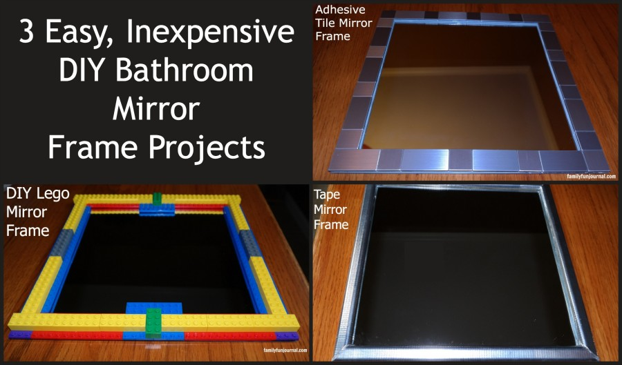Three DIY Bathroom Mirror Frames