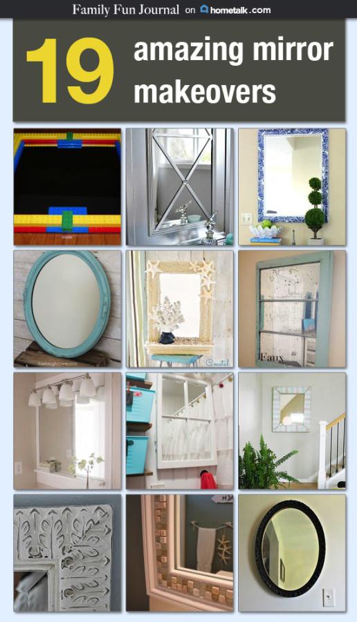 hometalk mirror makeover ideas family fun journal rh familyfunjournal com DIY Tile Bathroom Mirror DIY Tile Bathroom Mirror