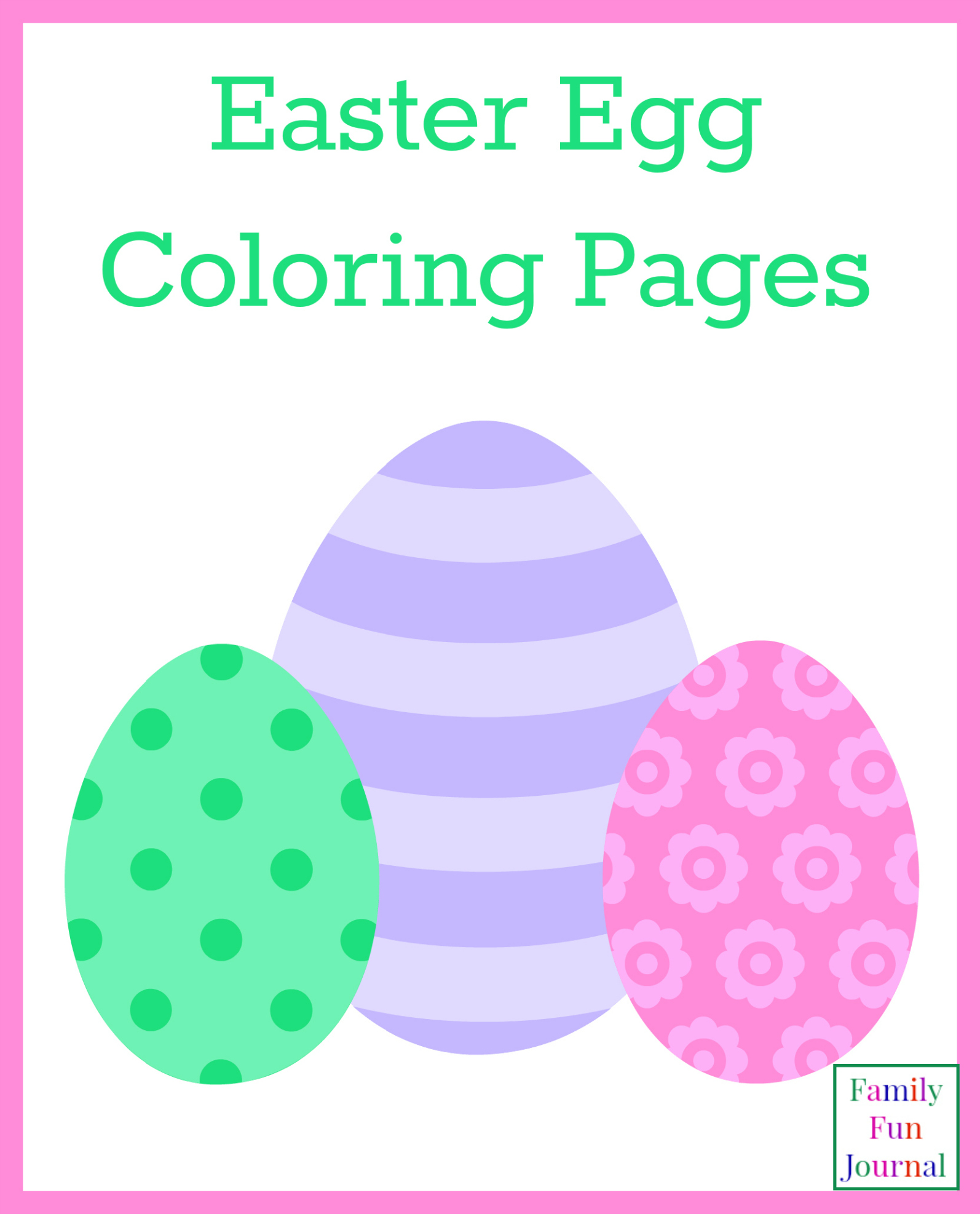 Easter Coloring Pages - Family Fun Journal