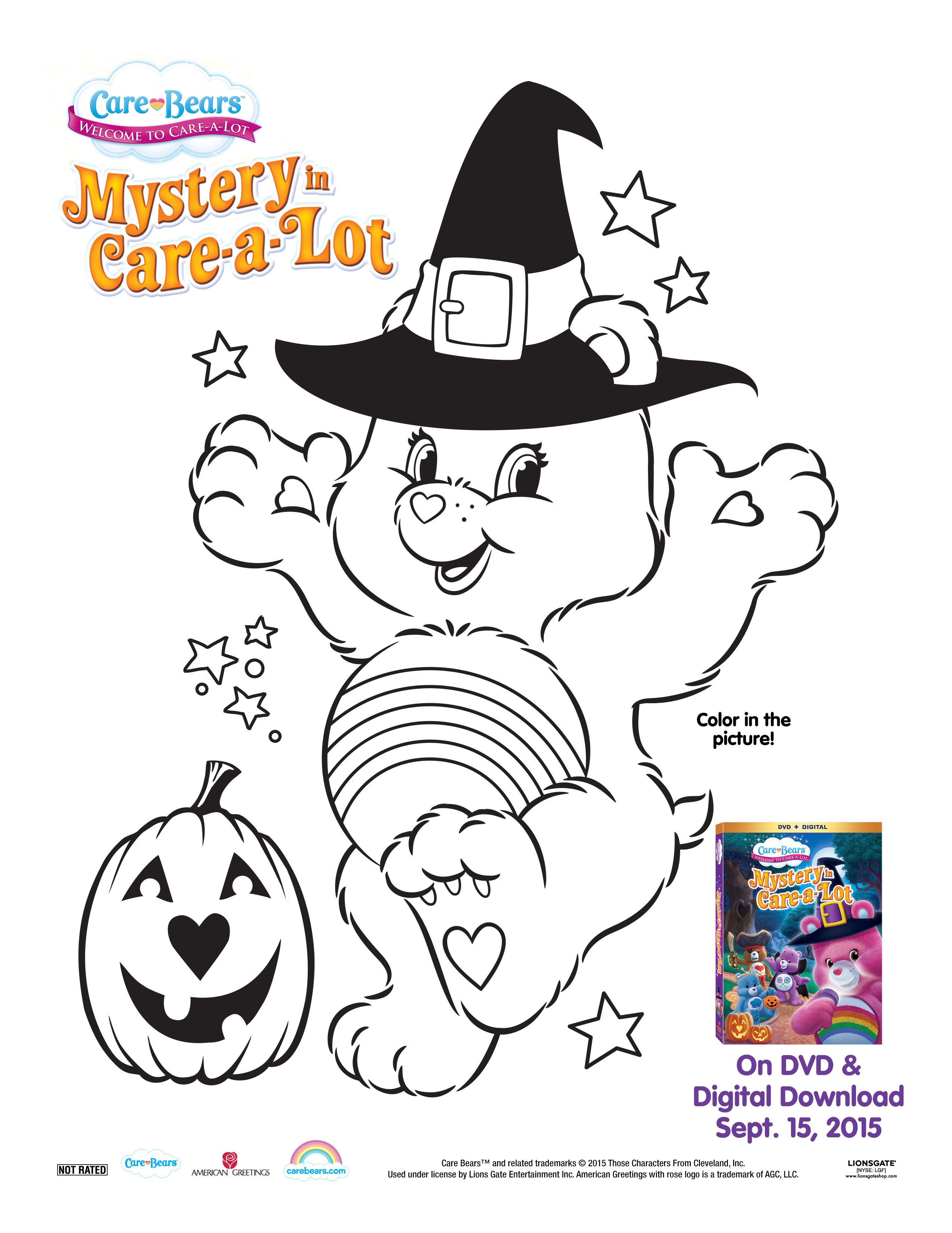 Care bears mystery in care a lot giveaway family fun journal to go along with the dvd here is a halloween care bear coloring sheet to access the printable click on the image below to download it kristyandbryce Choice Image