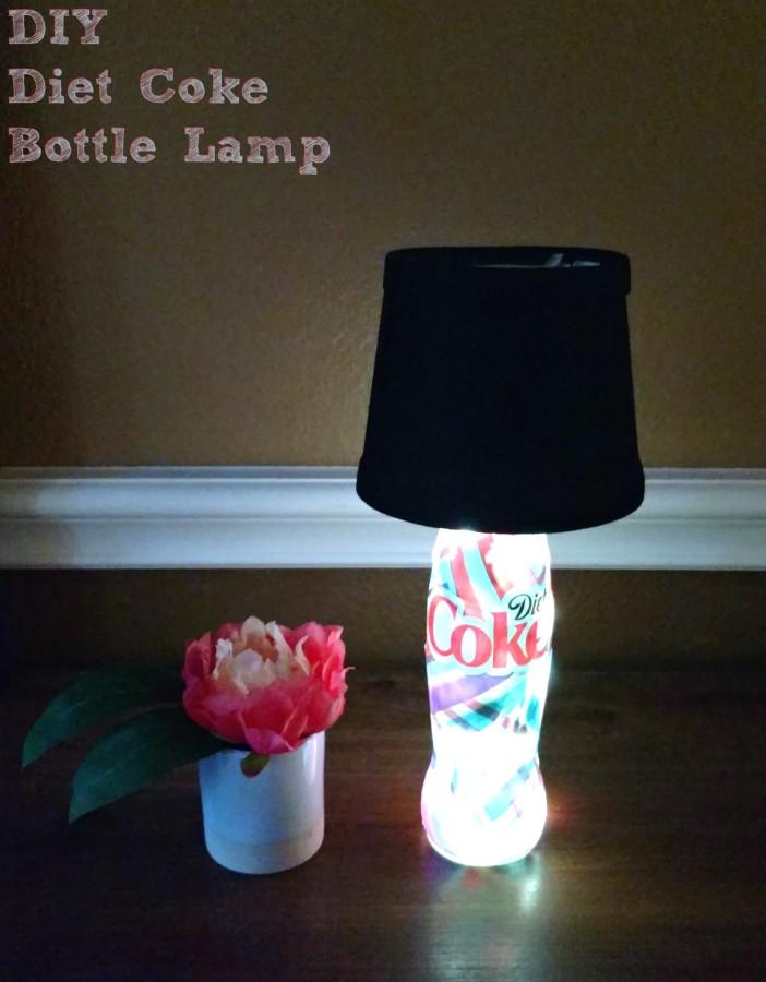 Easy diy diet coke bottle lamps family fun journal for Easy break glass bottles